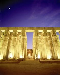280. Luxor Temple. FACT: Rubble began to accumulate around the temple, to the point where it was 3/4 buried amongst it. As a result, it had to be excavated from 1884 to 1960.