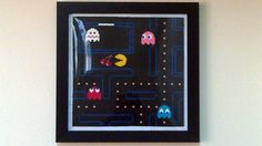 Large Pacman Framed Pixel Bead Art by PixelBeadPictures on Etsy