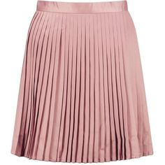 Boohoo Emilia Matte Satin Pleated Mini Skirt | Boohoo ($17) ❤ liked on Polyvore featuring skirts, mini skirts, pleated skirt, red midi skirt, pleated mini skirt, short maxi skirt and mini skirt