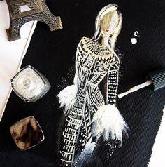 Vestidos de alta costura desenhados apenas com esmalte vão encantar você!
