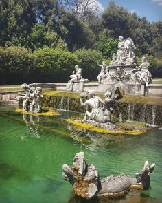 Fontana di Cerere in the Garden of the Royal Palace of Caserta Italy  #caserta #italy #travel #palace #garden #fountain #fontanadicerere #water #statue #galaxys6