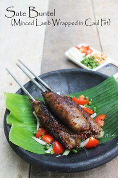 Resep Sate Buntel Kambing Solo (Spicy Lamb Kebab Wrapped in Caul Fat Recipe)