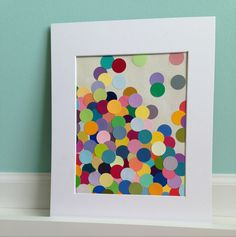 Multi colored up cycled paint chip art  www.etsy.com/shop/itsbranna