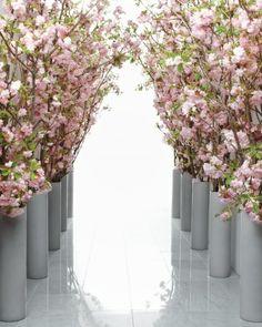 Cherry Blossom Ceremony Aisle Decorations