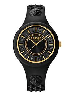 Versace - Fire Island watch black