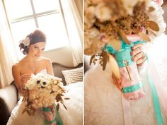 Upscale French Photoshoot in Gold, Pink & Teal | Wedding Obsession - Canadian Blog