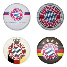 "BAYERN MUNICH Football Club 1.75"" Badges Pinbacks, Mirror, Magnet, Bottle Opener Keychain http://www.amazon.com/gp/product/B00K3U2BPO"