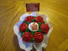 Valentine Cupcake Bouquet By Hillarie on CakeCentral.com