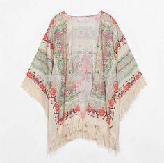 caftan floral - blusas sem marca