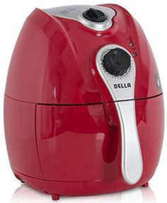 Electric Air Fryer w/ Temperature Control, Detachable Basket & Carry Handle, Red How To Cook Kale, How To Cook Steak, Air Fryer Review, Electric Air Fryer, Best Air Fryers, Healthy Meals To Cook, Air Frying, Cooking Oil, Cooking Steak