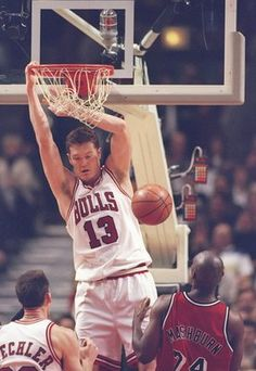 Luc Longley with Chicago 1994 - 1998. Hooping with MJ... That's a claim.