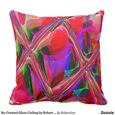 Re-Created Glass Ceiling by Robert S. Lee Pillow #Robert #S. #Lee #pillow #art #artist #graphic #design #colors #kids #children #girls #boys #style #throw #cover #for #her #him #gift #want #need #abstract #home #office #den #family #room #bedroom #living #customizable
