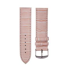 AMA(TM)18mm Genuine Leather Waterproof Watch Band Strap Fit All Watches Pink