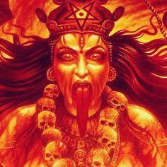 Kali, destroyer of the ego Maa Kali Images, Durga Images, Indian Goddess Kali, Durga Goddess, Mother Kali, Mother Goddess, Halloween Creatures, Kali Mata, Hindu Art