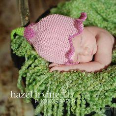 Flower fairy crochet hat