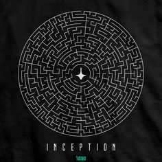 Movie Posters Discover Inception Maze Token T-Shirt Inception T-Shirt Design by Hataka Tribute to Christopher Nolan Movie from Great Gift Shirt Tee Movies Pop Art Wallpaper, Galaxy Wallpaper, Cafe Design, Logo Design, Nolan Film, Film Icon, Christopher Nolan, Movie Poster Art, Diy Stickers