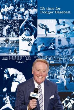 Vin Scully is the man, let there be no doubt, no dispute.  This gentleman broke the mold, no mas'.