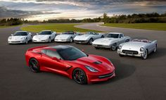 CHEVROLET Corvette Stingray and her family portrait with mother, grandmotheri grand grand mother. - Erdem Deniz - - CHEVROLET Corvette Stingray and her family portrait with mother, grandmotheri grand grand mother. Chevrolet Corvette Stingray, 2015 Corvette, Corvette Summer, Classic Corvette, Chevy Chevrolet, Cool Sports Cars, Sport Cars, Supercars, Dream Cars