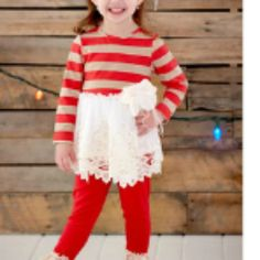 Peaches 'N Cream Red Lace Holiday from Freckles Children's Boutique for $88.00