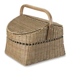 Rattan Woven Picnic Basket #williamssonoma