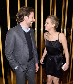Even Bradley Cooper can't resist Jennifer Lawrence's charms.