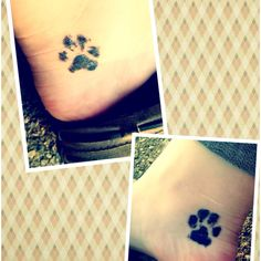 I got this tattoo of my Boston terriers paw prints! Yes they are actually their paw prints!!!!