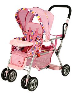 Joovy Just Like Mine Toy Caboose Doll Tandem Stroller Baby Car Seat