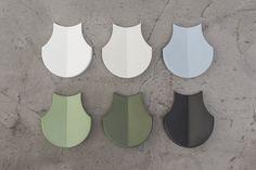 'Shingle ' concrete tile design by Patrycja Domanska & Tanja Lightfoot I KAZA Concrete #backsplash #featurewall #surfacedesign #interiordesign