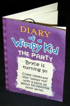 Diary of a wimpy kid, Birthday Invitations | Birthdays, Diary of ...