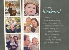 Husband Fathers Day Photostrips Father's Day Card