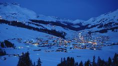 Snow village wallpaper at night free desktop background - free ...