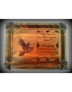 Engraved Groove Edge Genuine Walnut Plaques