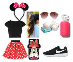 """""""A day at Disney"""" by brianamircea ❤ liked on Polyvore featuring Alice + Olivia, Cutler and Gross, NIKE, Forever 21 and bkr"""