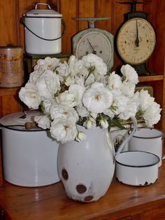 My Old Enamel and Iceberg Roses LOVE