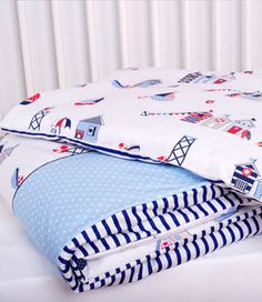 beautiful colorful bed sheets in fancy style - marine