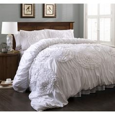 Lush Decor Serena 3-Piece Comforter Set - Overstock™ Shopping - Great Deals on Lush Decor Comforter Sets
