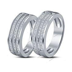 Scatter Sim Diamond Wedding//Engagement//Eternity Ring//Band Stainless Steel 925 UK