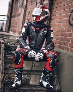 Motorbike Clothing, Motorcycle Suit, Biker Love, Biker Style, Agv Helmets, Motorbike Leathers, Biker Leather, Leather Men, Biker Gear