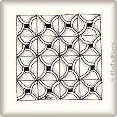 Zentangle-Pattern 'Fiore' by Jana Rogers (CZT-IO), presented by www.ElaToRium.de
