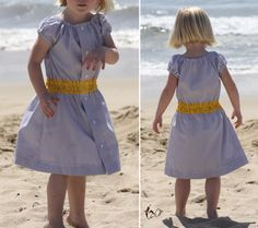 Made from Dad's old shirt! Seaside Stripes and Shirt Dress Tutorial | MADE