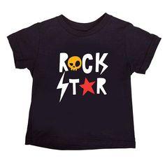 ROCK STAR Music Kids T-shirt 100% soft cotton Rock
