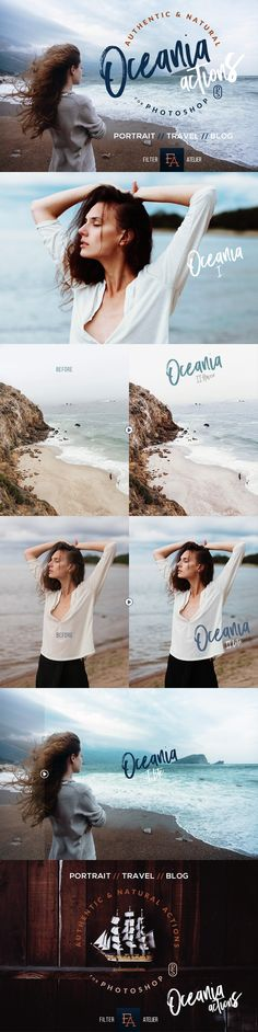 Oceania Photoshop Actions by FilterAtelier