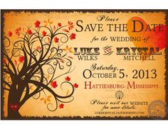 Fall Save the Date wedding Invitation with by HydraulicGraphix, $26.50
