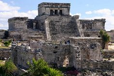 Tulum: the only Mayan city on the coast of the Yucatan peninsula, and was used as a commercial port and exchange, is located 50 km to the south of Playa del Carmen.