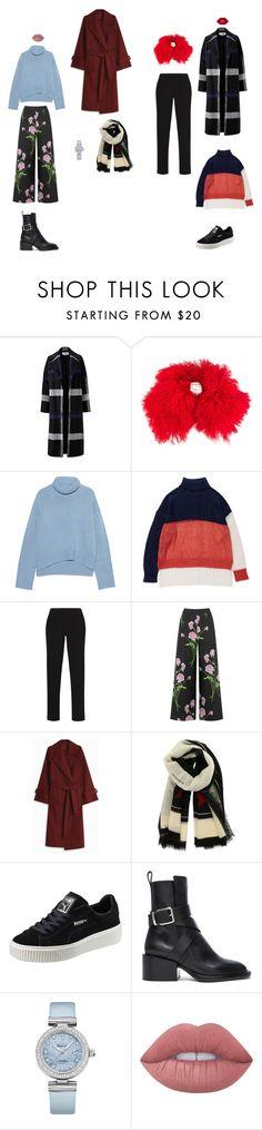 """winterwalks"" by neiman-bags on Polyvore featuring мода, Helene Berman, Moncler, iHeart, BCBGMAXAZRIA, Warehouse, The Row, Givenchy, Puma и Jil Sander"