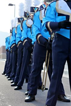 Marching Band... I LOVE this blue!