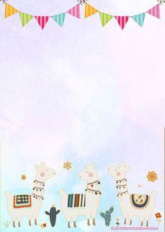 Free Templates for Birthday Invitations Fresh Free Llama Birthday Invitation Templates Free Birthday Invitation Templates, 30th Birthday Invitations, Birthday Card Template, Templates Printable Free, Printable Invitations, Birthday Invitation Background, Birthday Invitations Kids, Free Printables, Scrapbook Bebe