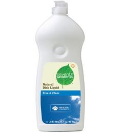 Seventh Generation - Dye Free and Clear  Great on hands! No gloves required :)