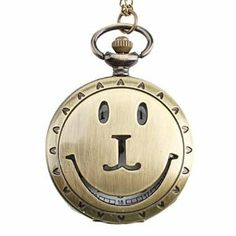 Tanboo Unisex Smile Alloy Analog Quartz Pocket Watch (Bronze) by Tanboo. $6.99. Casual Watches. Pocket Watches. Women's, Men's Watche. Gender:Women's, Men'sMovement:QuartzDisplay:AnalogStyle:Pocket WatchesType:Casual WatchesBand Material:AlloyBand Color:BronzeCase Diameter Approx (cm):4Case Thickness Approx (cm):1Band Length Approx (cm):47Band Width Approx (cm):2