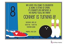 Bowling Shoes Invitation